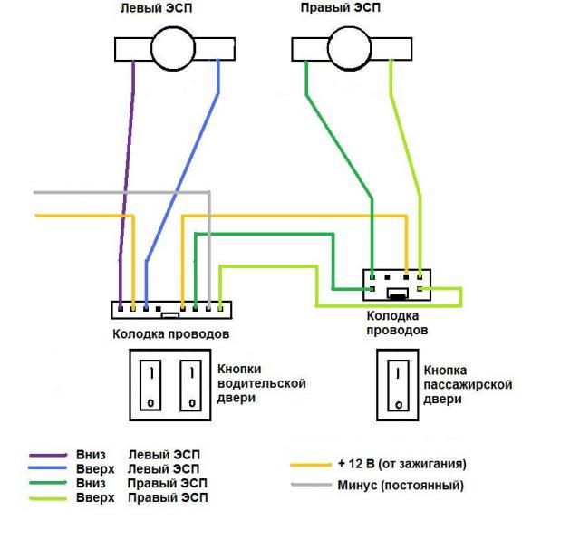 жёлтый провод (по схеме).